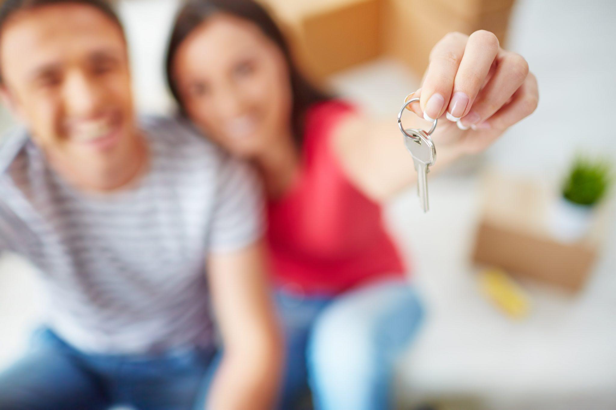 crédito hipotecario mostrando llaves